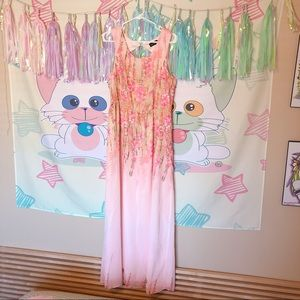Pink Modcloth maxi dress